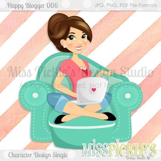 Happy Blogger 006- Character Graphic  Miss Pickles Design Studio    Mygrafico