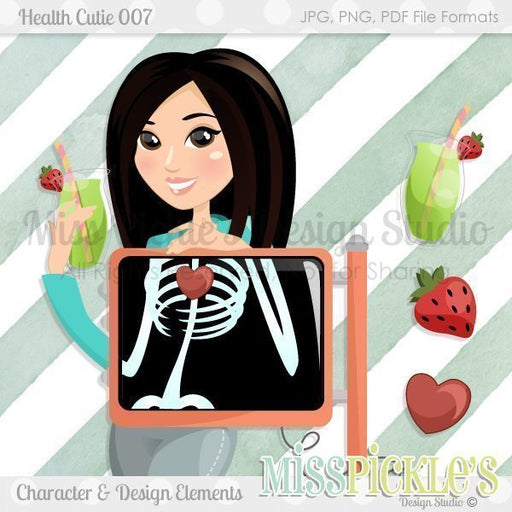 Health Cutie 007- Character Design and Elements  Miss Pickles Design Studio    Mygrafico