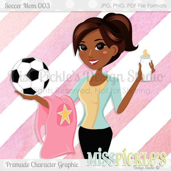 Soccer Mom 003- Character Design  Miss Pickles Design Studio    Mygrafico