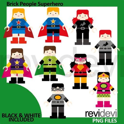 Brick block figurine superhero clipart Cliparts Revidevi    Mygrafico