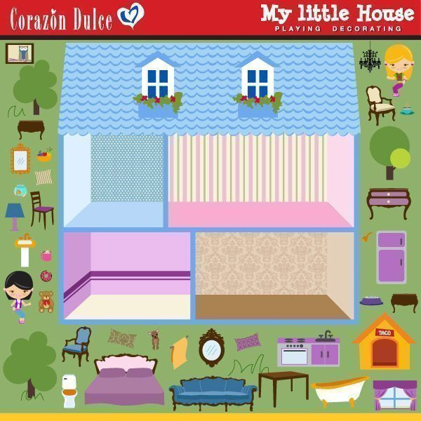 My Little House Clipart Corazón Dulce    Mygrafico