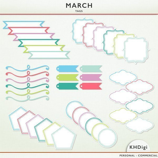 March Tags  KH Digi    Mygrafico