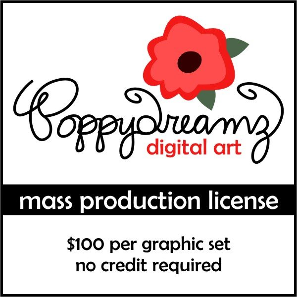 Poppydreamz Mass Production Commercial License  Poppydreamz    Mygrafico