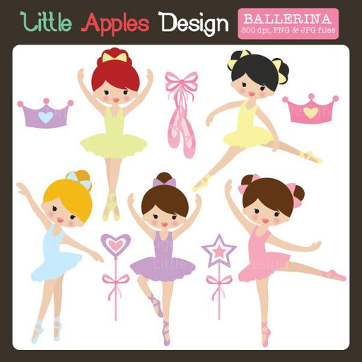 Ballerina Clipart  Little Apples Design    Mygrafico