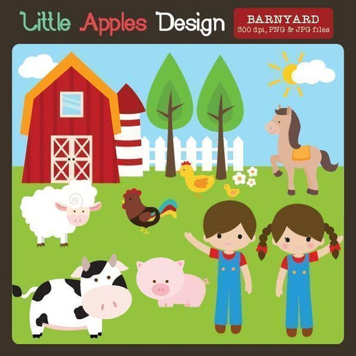Barnyard Clipart  Little Apples Design    Mygrafico