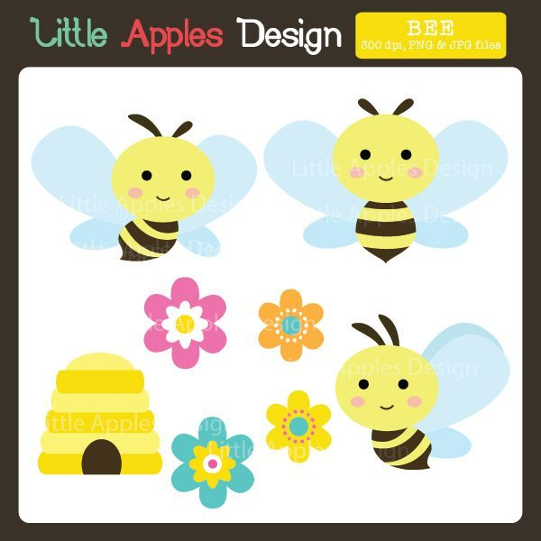 Bee Clipart  Little Apples Design    Mygrafico