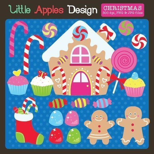 Christmas Wonderland Clipart  Little Apples Design    Mygrafico