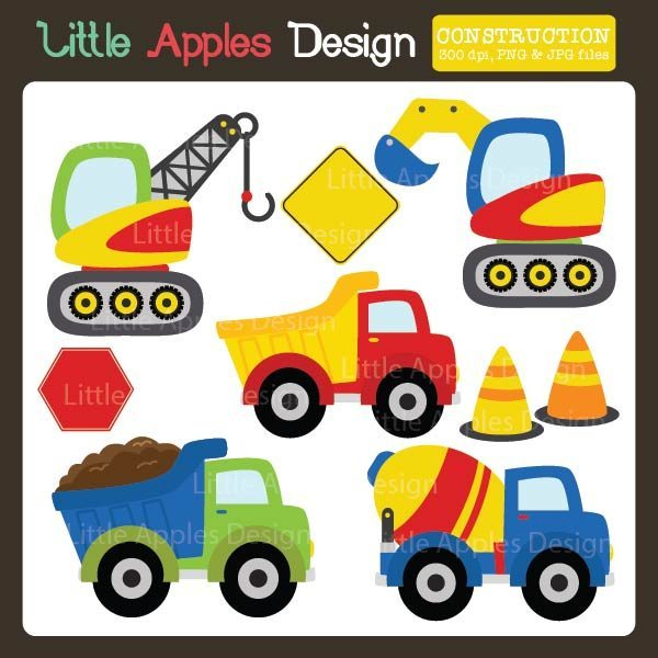 Construction Clipart  Little Apples Design    Mygrafico