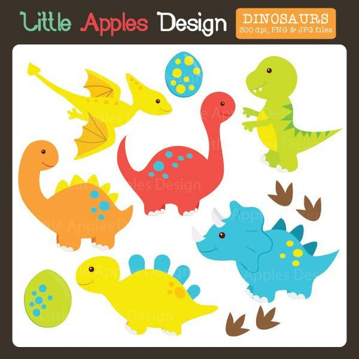 Dinosaur Clipart  Little Apples Design    Mygrafico