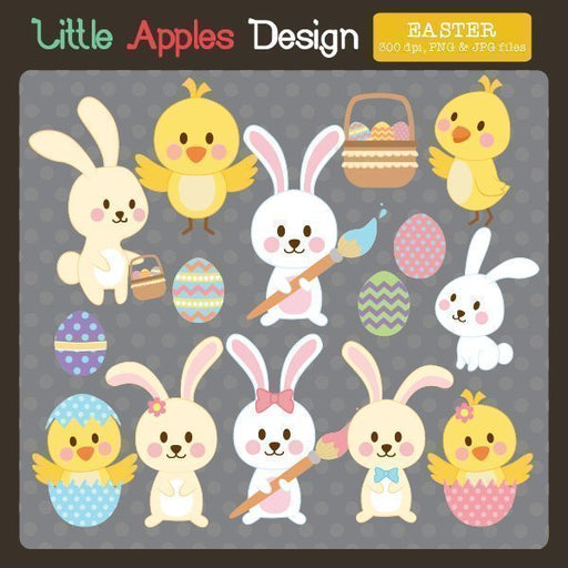 Cute Easter Clipart  Little Apples Design    Mygrafico