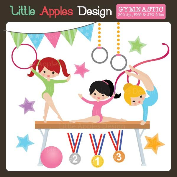 Gymnastic Clipart  Little Apples Design    Mygrafico