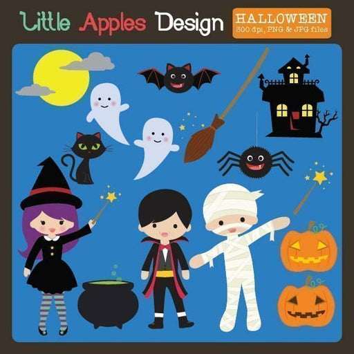 Halloween Clipart  Little Apples Design    Mygrafico