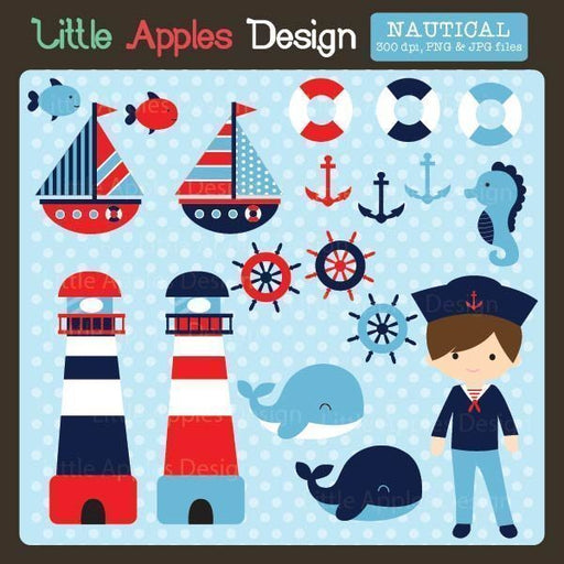 Nautical Clipart  Little Apples Design    Mygrafico