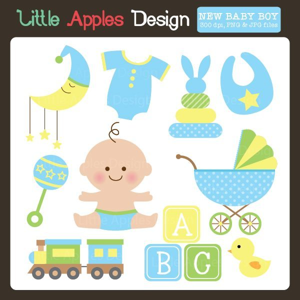 New Baby Boy Clipart  Little Apples Design    Mygrafico