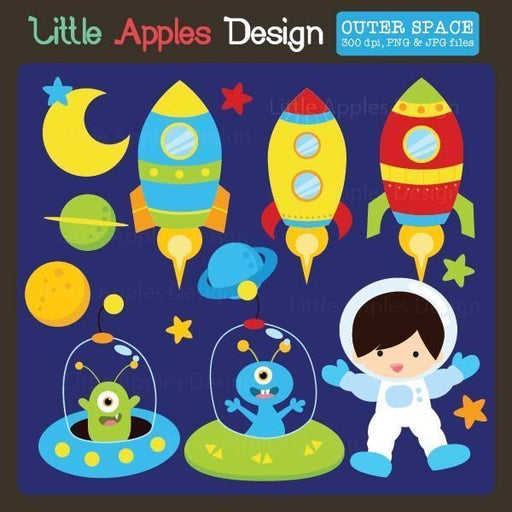 Outer Space Clipart  Little Apples Design    Mygrafico