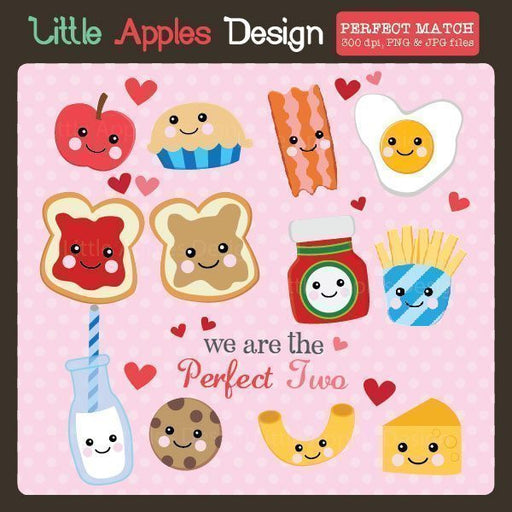 Perfect Match Clipart  Little Apples Design    Mygrafico
