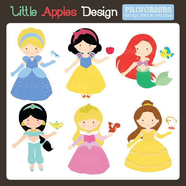 Fairytale Princess Clipart 2  Little Apples Design    Mygrafico