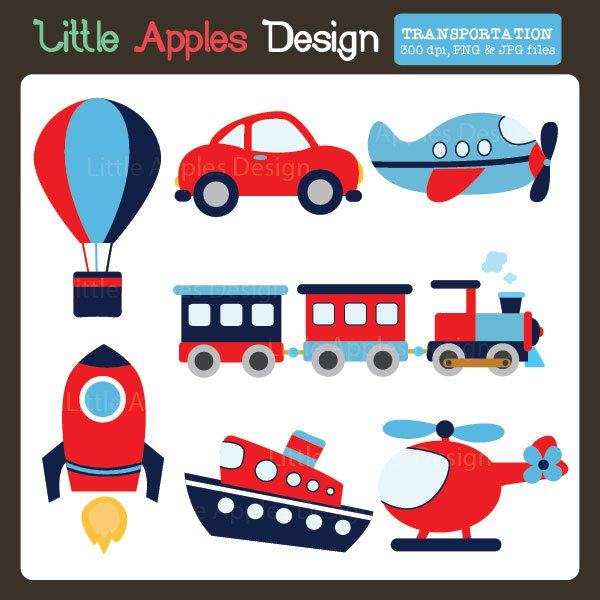 Transportation Clipart  Little Apples Design    Mygrafico