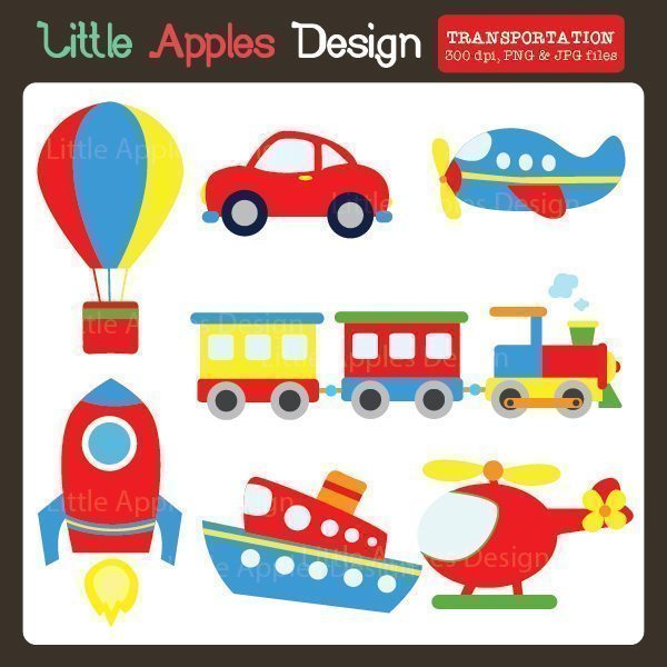 Transportation Clipart 2  Little Apples Design    Mygrafico