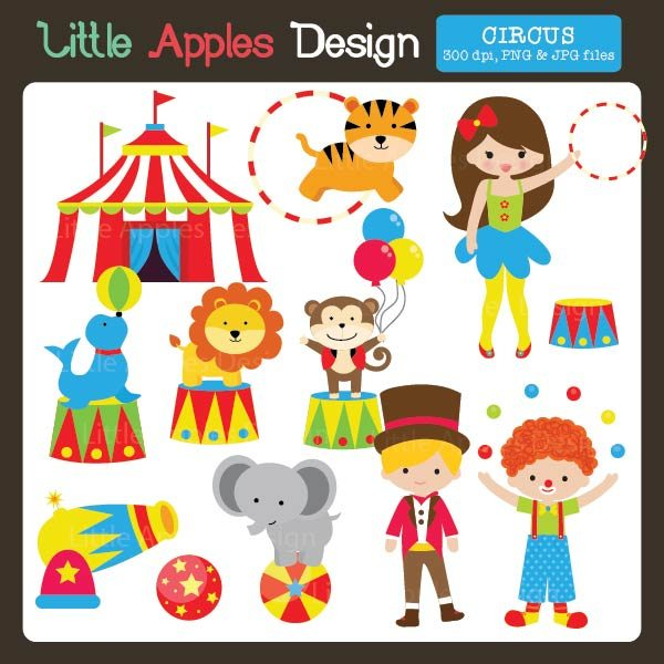 Circus Clipart  Little Apples Design    Mygrafico