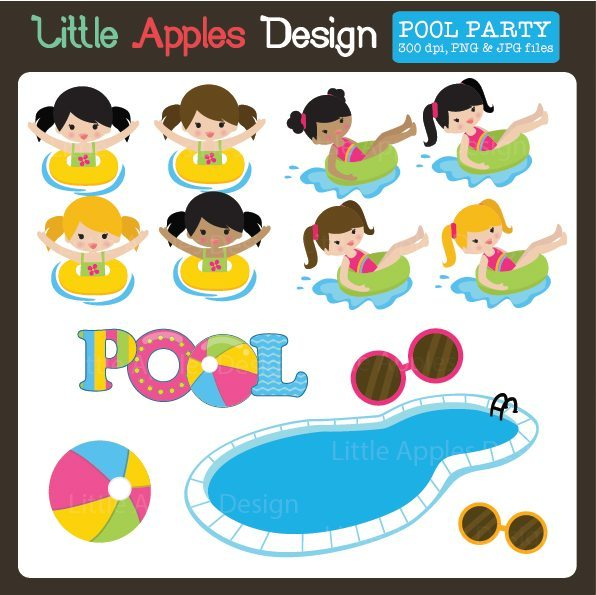 Pool Clipart  Little Apples Design    Mygrafico