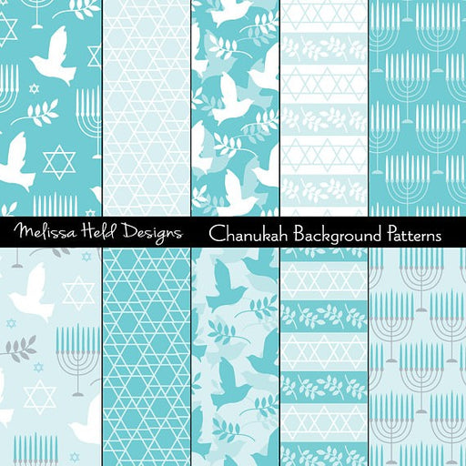 Chanukah Patterns Digital Paper & Backgrounds Melissa Held Designs    Mygrafico
