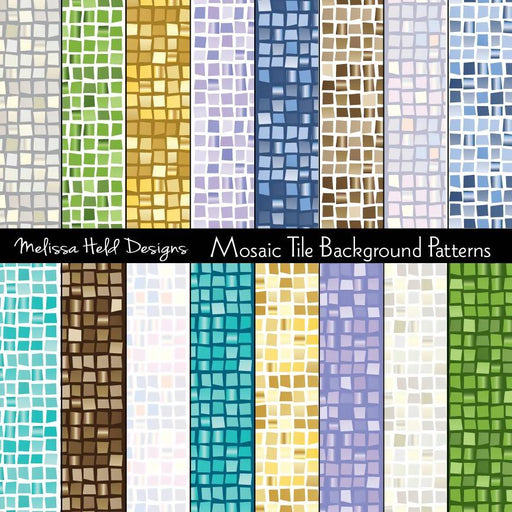 Mosaic Tile Background Patterns Digital Paper & Backgrounds Melissa Held Designs    Mygrafico