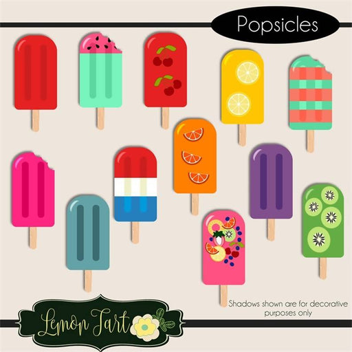 Homemade Digital Fruit Popsicles with not mess Cliparts Lemon Tart    Mygrafico