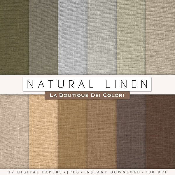 Natural Linen Digital Papers  La Boutique Dei Colori    Mygrafico