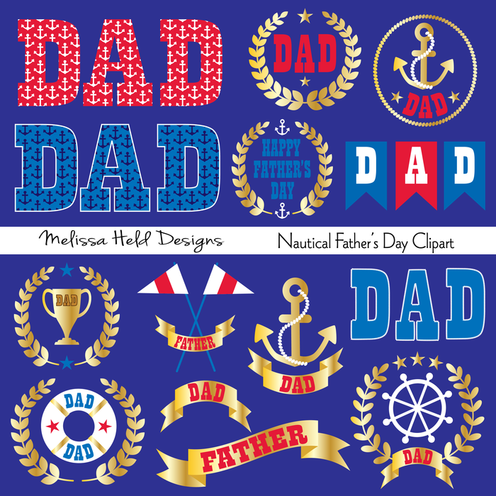 Nautical Father's Day Clipart Clipart Melissa Held Designs    Mygrafico