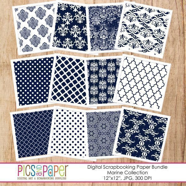 Marine Paper Digital Papers & Background Pics and Paper    Mygrafico