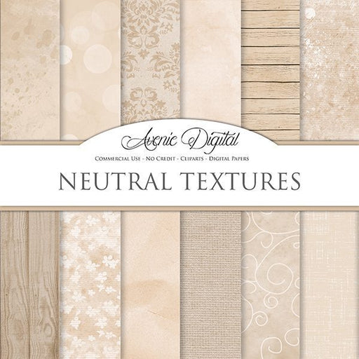 Shabby chic Neutral textures Digital Paper