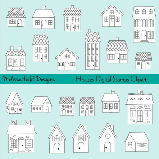 House Digital Stamps Clipart Digital Stamps Melissa Held Designs    Mygrafico