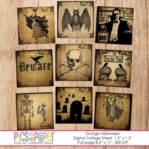 Grunge Halloween Printable Templates Pics and Paper    Mygrafico