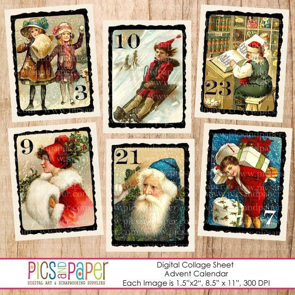Advent Calendar  Pics and Paper    Mygrafico