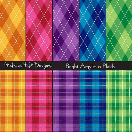 Argyle and Plaid Patterns Digital Paper & Backgrounds Melissa Held Designs    Mygrafico