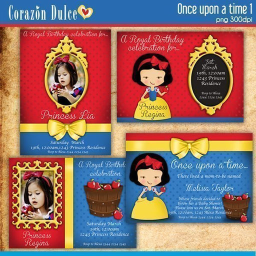 Once upon a time invitations1  Corazón Dulce    Mygrafico