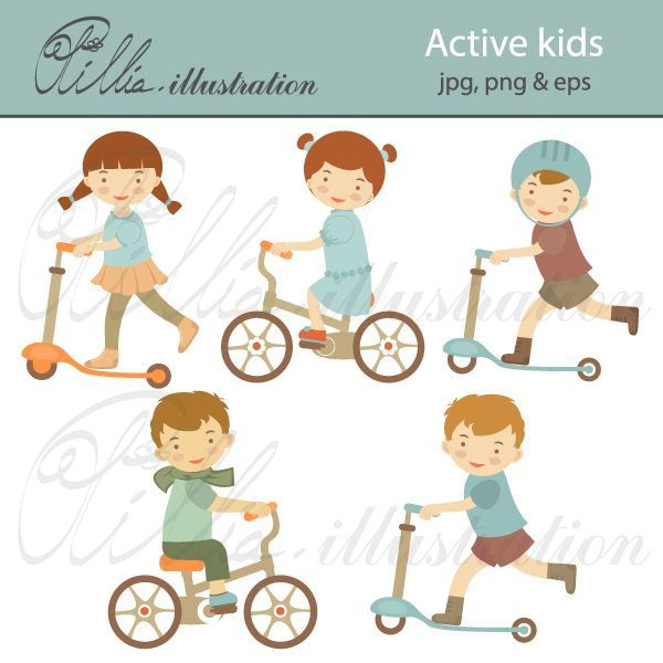 Active_kids  Olillia Illustration    Mygrafico