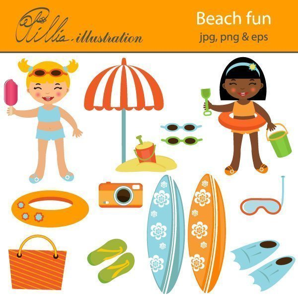 Beach fun  Olillia Illustration    Mygrafico