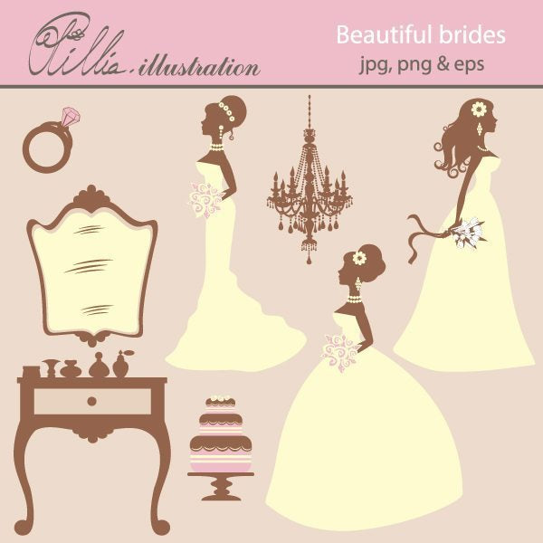 Beautiful_brides  Olillia Illustration    Mygrafico