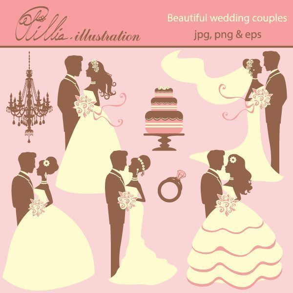Beautiful_wedding_couples  Olillia Illustration    Mygrafico