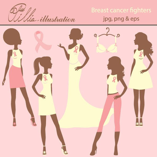 Breast cancer fighters  Olillia Illustration    Mygrafico