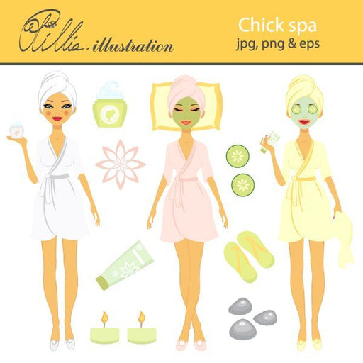Chick Spa  Olillia Illustration    Mygrafico