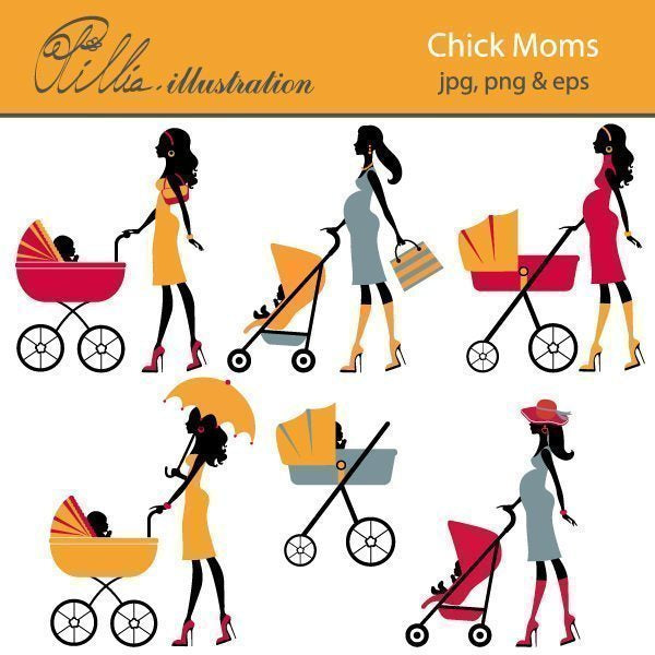 Chick moms  Olillia Illustration    Mygrafico