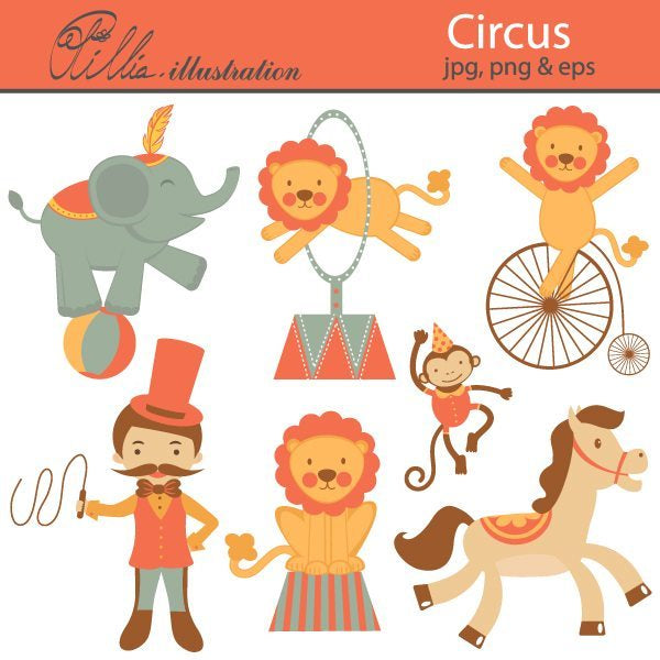 Circus Clipart Olillia Illustration    Mygrafico