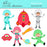 Cosmic kids clipart  Olillia Illustration    Mygrafico
