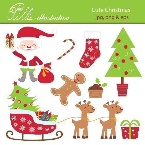 Cute_Christmas  Olillia Illustration    Mygrafico