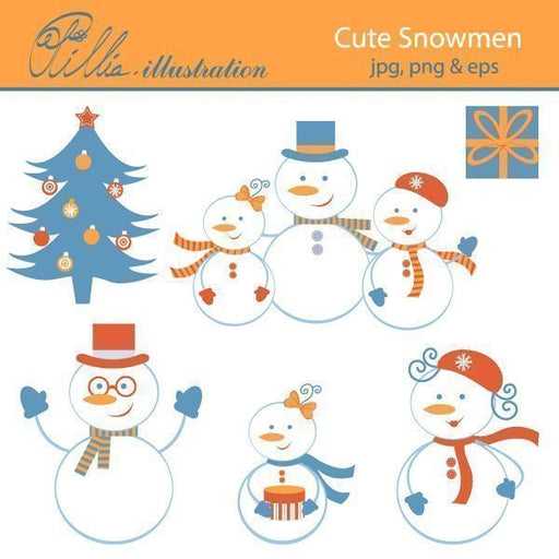 Cute_Snowmen  Olillia Illustration    Mygrafico