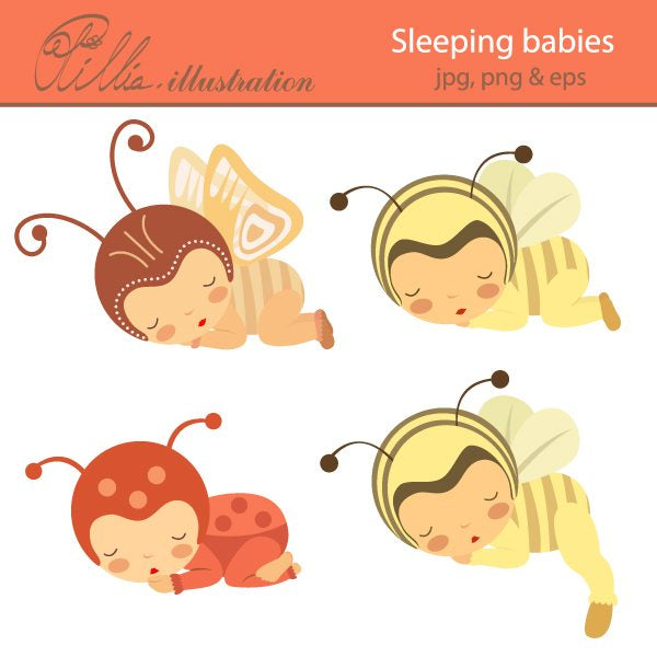 Sleeping_babies  Olillia Illustration    Mygrafico