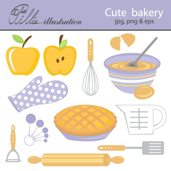 Cute bakery  Olillia Illustration    Mygrafico